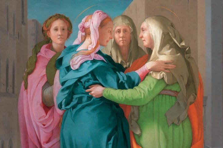 Visitation (c. 1520), Jacopo Carucci, known as Pontormo. Parish of San Michele Arcangelo in Carmignano.