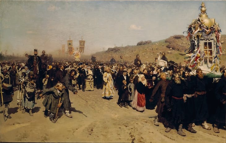 Religious Procession in Kursk Governorate, Repin