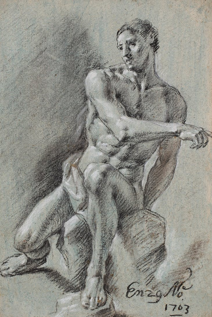 Academic Study (1703), Juan Antonio Conchillos y Falcó. Artur Ramon Art ($36,000)