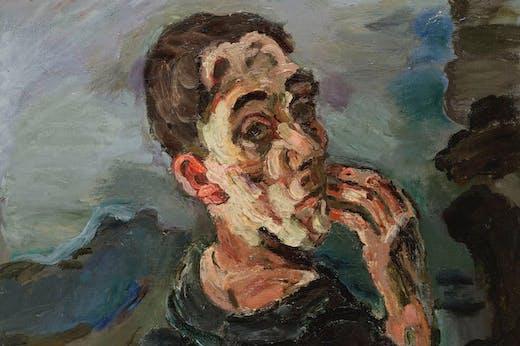 Self-Portrait, One Hand Touching the Face, Kokoschka