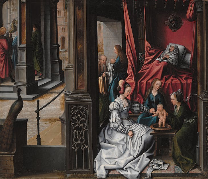 The Birth and Naming of Saint John the Baptist, van Orley