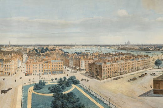 Panorama of London (1815), Pierre Prévost. Museum of London