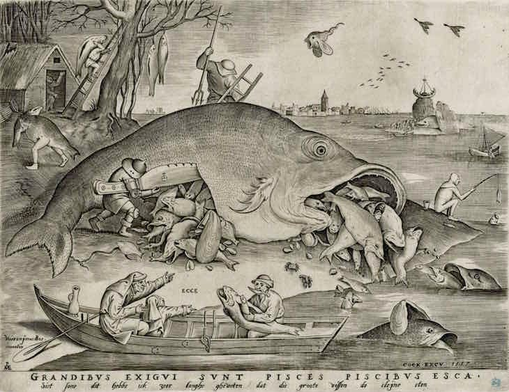 Big Fish Eat Little Fish, Bruegel