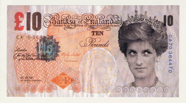 Di-faced tenner, Banksy