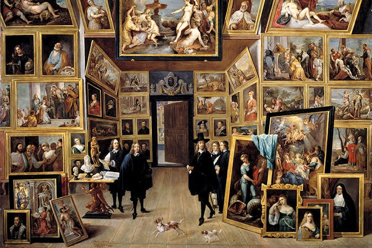 The Archduke Leopold William in his Picture Gallery in Brussels (detail; 1647–51), David Teniers the Younger. Museo Nacional del Prado, Madrid