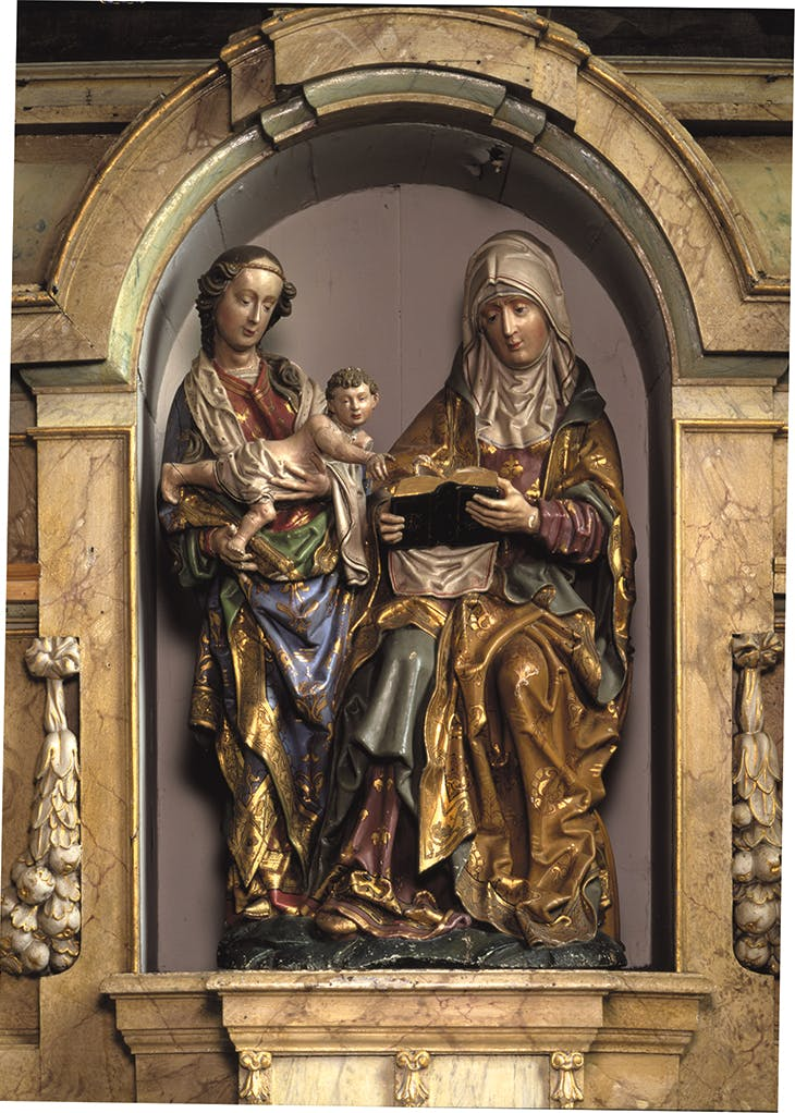 Saint Anne with the Virgin and Child in Parochie Sint-Augustinus, Elsloo, Master of Elsloo.