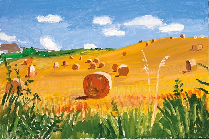 Kilham to Langtoft II, 27 July 2005 (2005), David Hockney.