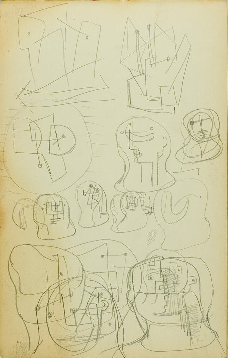 Head Studies (c. 1935), Henry Moore.