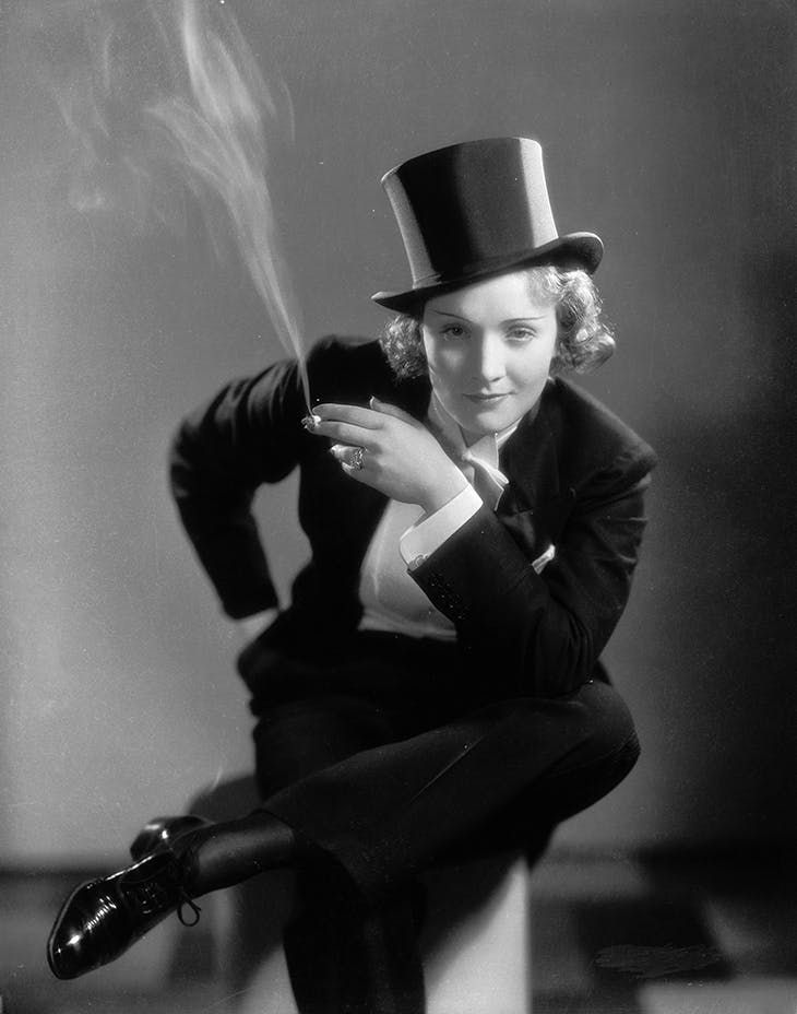 Tuxedo worn by Marlene Dietrich in the film 'Morocco' (1930).