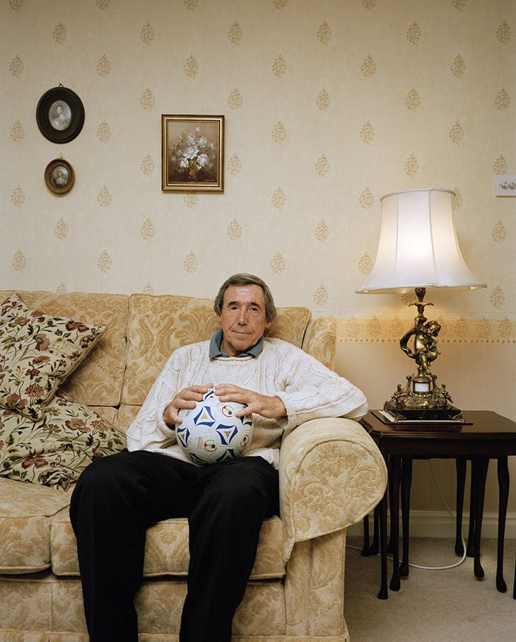Gordon Banks, English goalkeeper who played in the 1966 World Cup victory against West Germany, England (2003), Martin Parr.