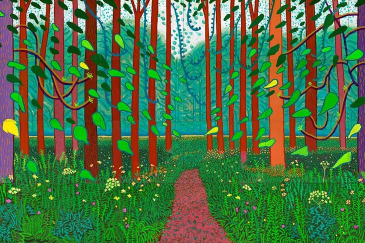 The Arrival of Spring in Woldgate, East Yorkshire in 2011 (twenty eleven) (2011), David Hockney.