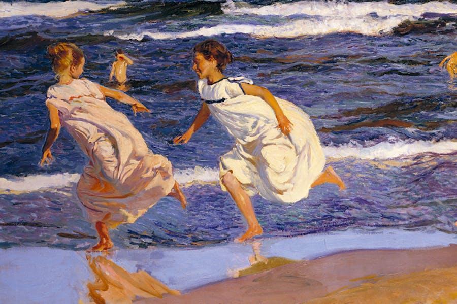 Running Along the Beach, Valencia (1908), Joaquín Sorolla. Museo de Bellas Artes de Asturias, Oviedo.