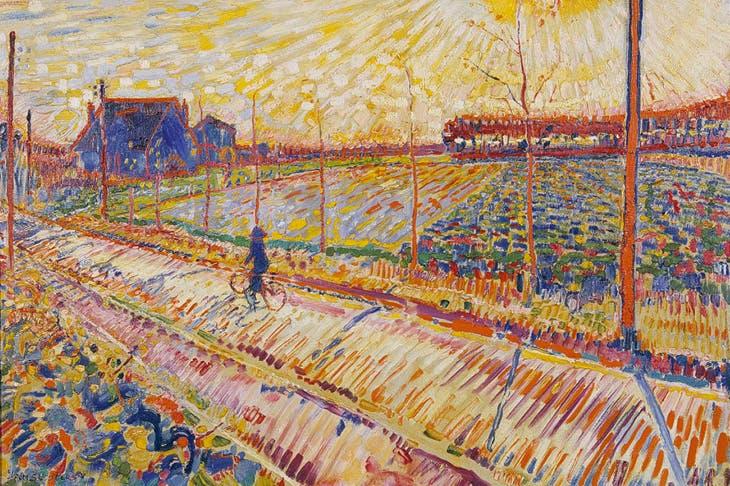 Laren Landscape with October Sun (1910), Jan Sluijters. Stedelijk Museum Schiedam.