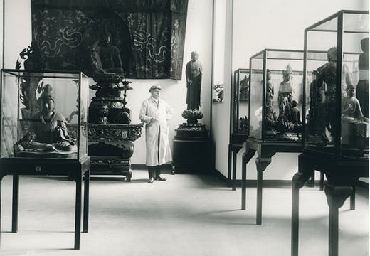 Adolf Fischer at the Museum of East Asian Art, Cologne, c. 1913.