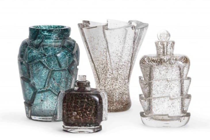 Glass works by Maurice Marinot.