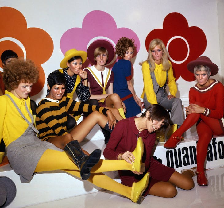 Mary Quant and models at the Quant Afoot footwear collection launch (1967).