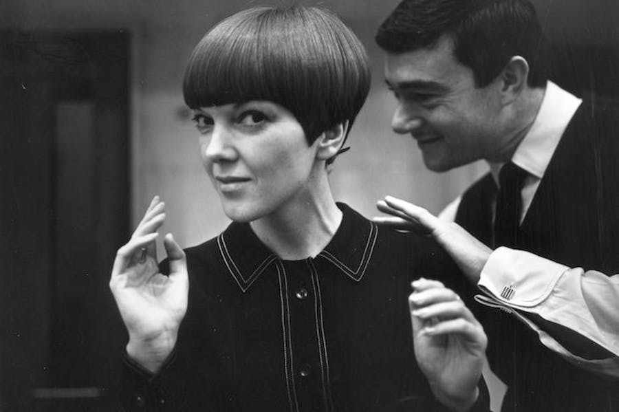 Mary Quant, with Vidal Sassoon (c. 1967), Ronald Dumont.