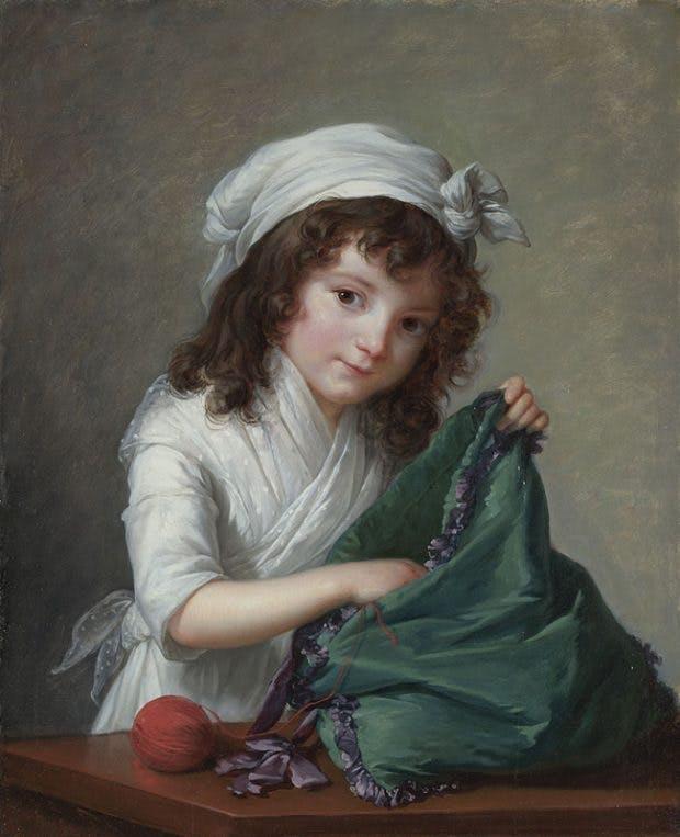 Mademoiselle Brongniart, (1788), Elisabeth Louise Vigée Le Brun. National Gallery, London.