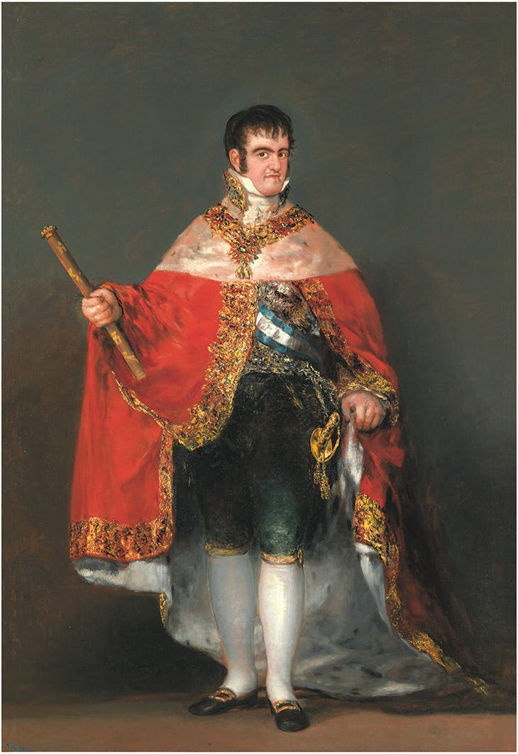 Ferdinand VII in Court Dress (1814–15), Francisco de Goya. Museo Nacional del Prado, Madrid