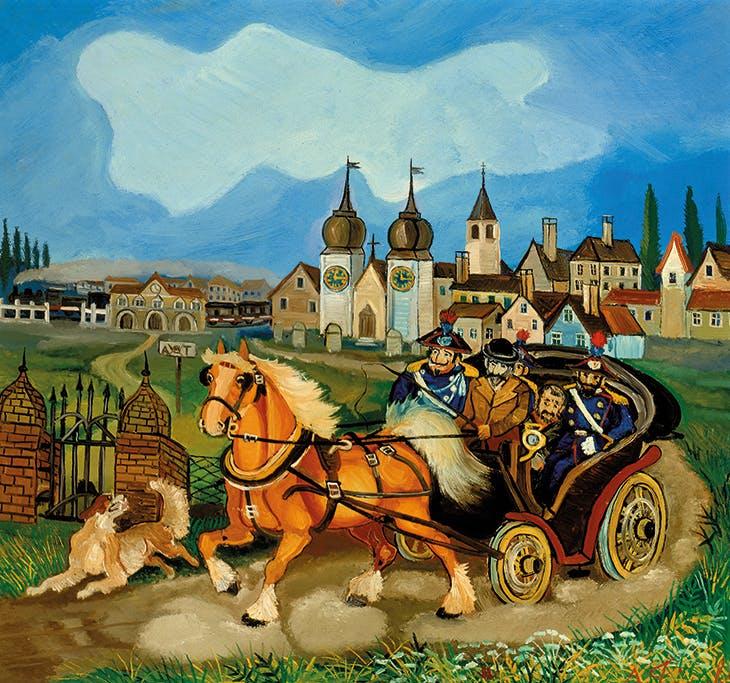 Stagecoach with horses (c. 1959-60), Antonio Ligabue.
