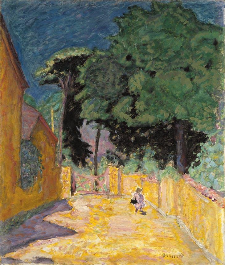 Lane at Vernonnet (1912-14), Pierre Bonnard.
