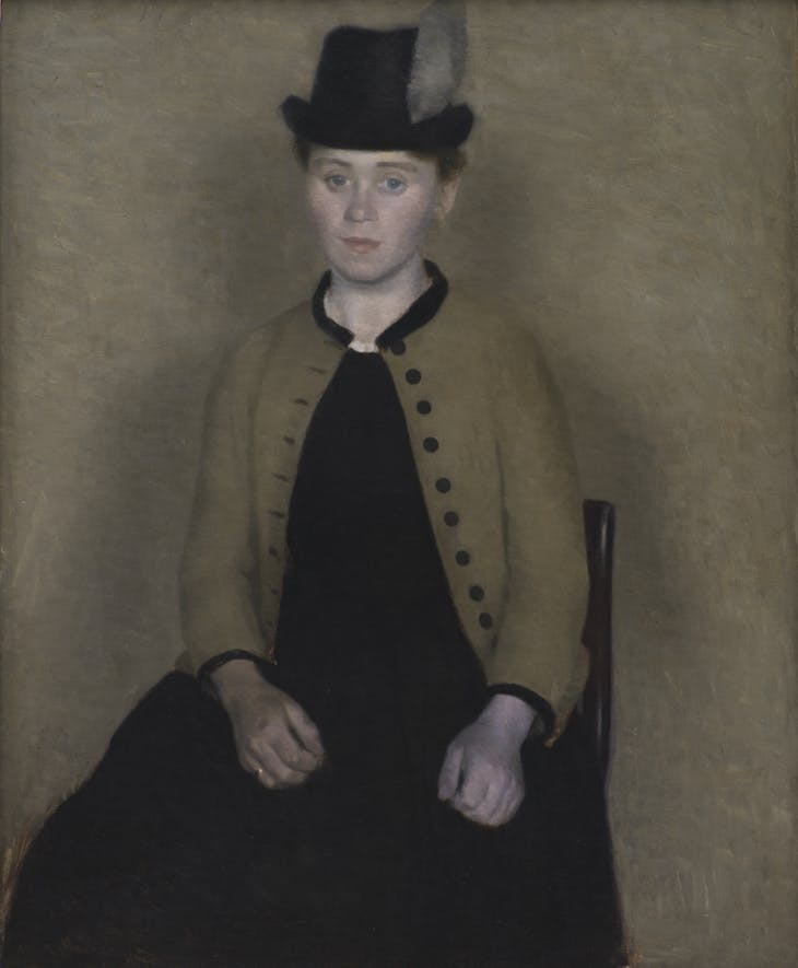 Portrait of Ida Ilsted, the artist's future wife, Hammershoi