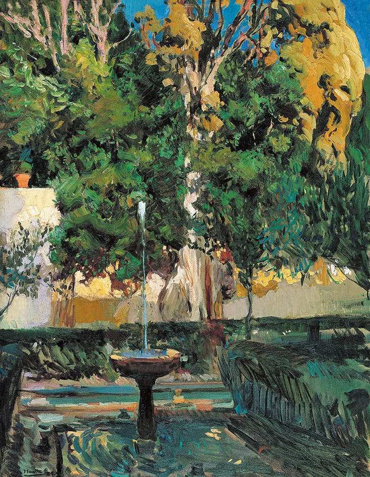 The Cypress of the Sultana, Genaralife (1910), Joaquín Sorolla.