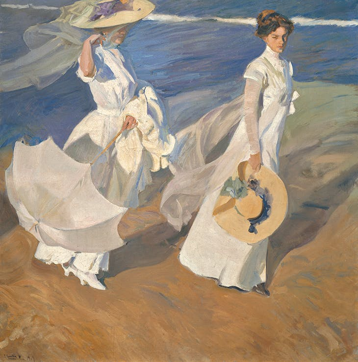 Strolling along the Seashore (1909), Joaquín Sorolla. Museo Sorolla, Madrid.
