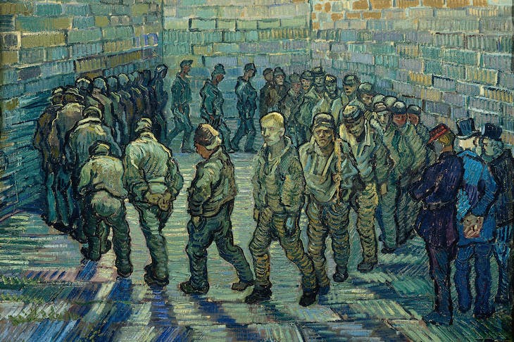 Prisoners Exercising (1890), Vincent van Gogh.