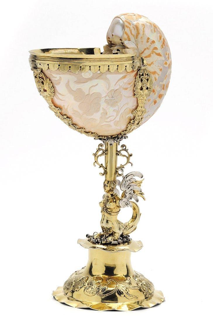 Nautilus cup (c. 1670), Netherlands