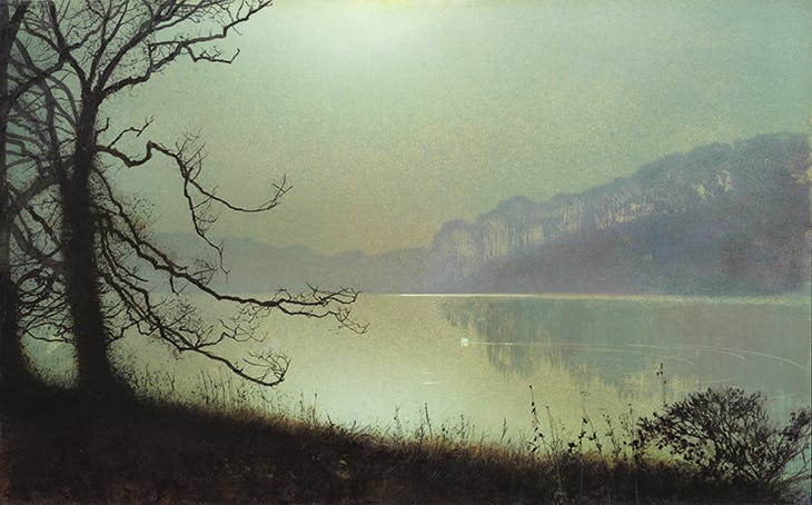 At the Lakeside, Moonlight, Grimshaw