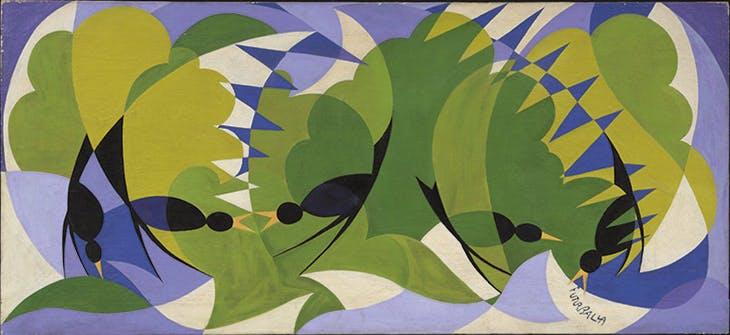Merli Futuristi (Futurist Blackbirds) (c.1924), Giacomo Balla.
