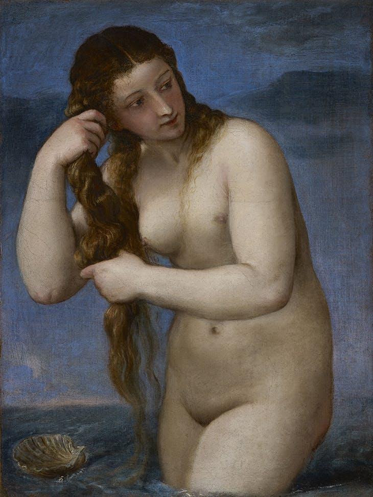 Venus Rising from the Sea ('Venus Anadyomene') (c. 1520), Titian. National Galleries of Scotland