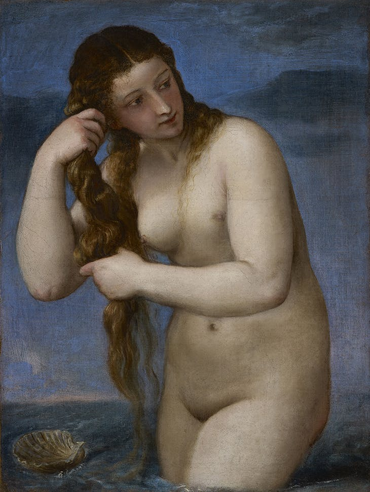 Venus Rising from the Sea ('Venus Anadyomene') (c. 1520), Titian. National Galleries of Scotland