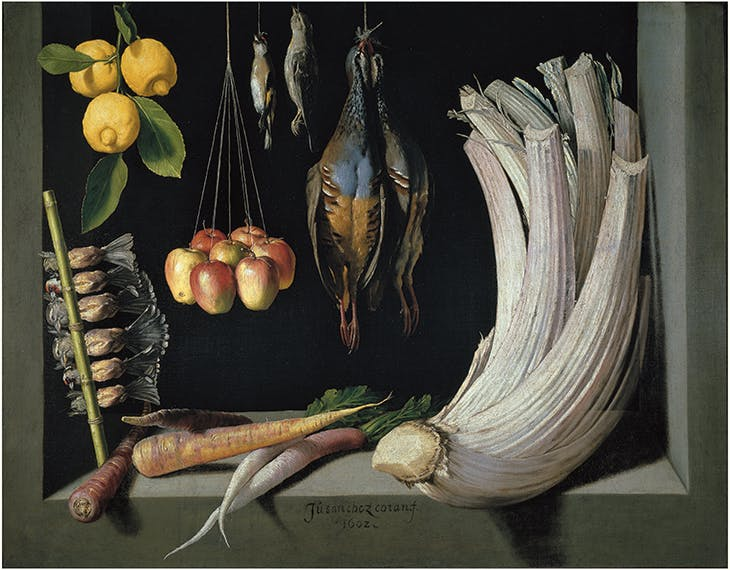 Still Life with Vegetables, Game and Fruit (1602), Juan Sánchez Cotán. Museo Nacional del Prado, Madrid