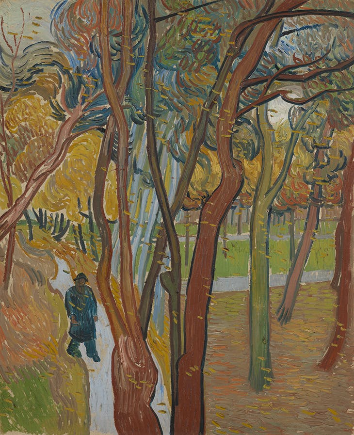 The Garden of Saint Paul's Hospital ('Leaf Fall') (1889), Vincent van Gogh. Van Gogh Museum, Amsterdam (Vincent van Gogh Foundation)