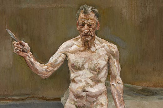 Painter Working, Reflection (1993), Lucian Freud.