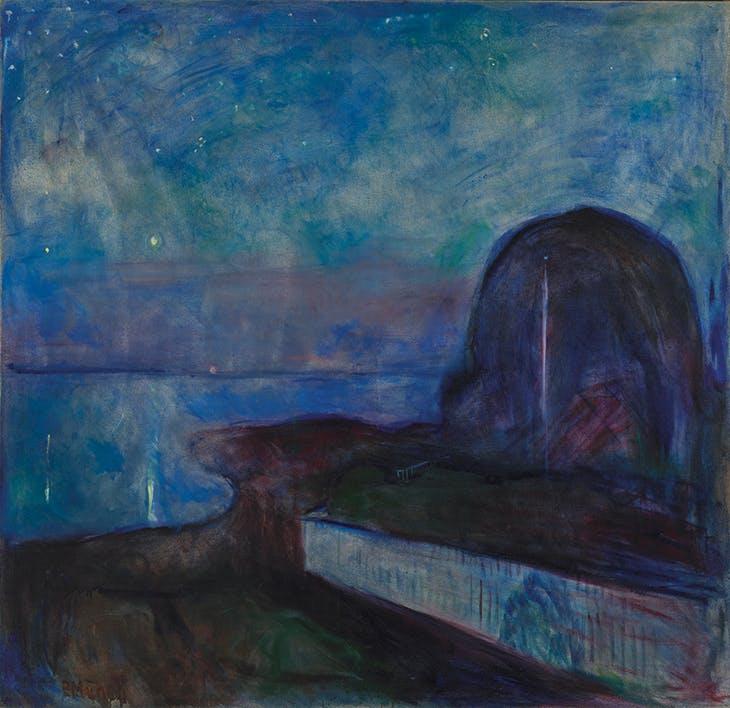 Starry Night (1893), Edvard Munch. J. Paul Getty Museum, Los Angeles