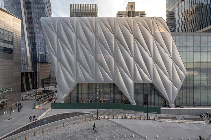 View of The Shed, from Hudson Yards.