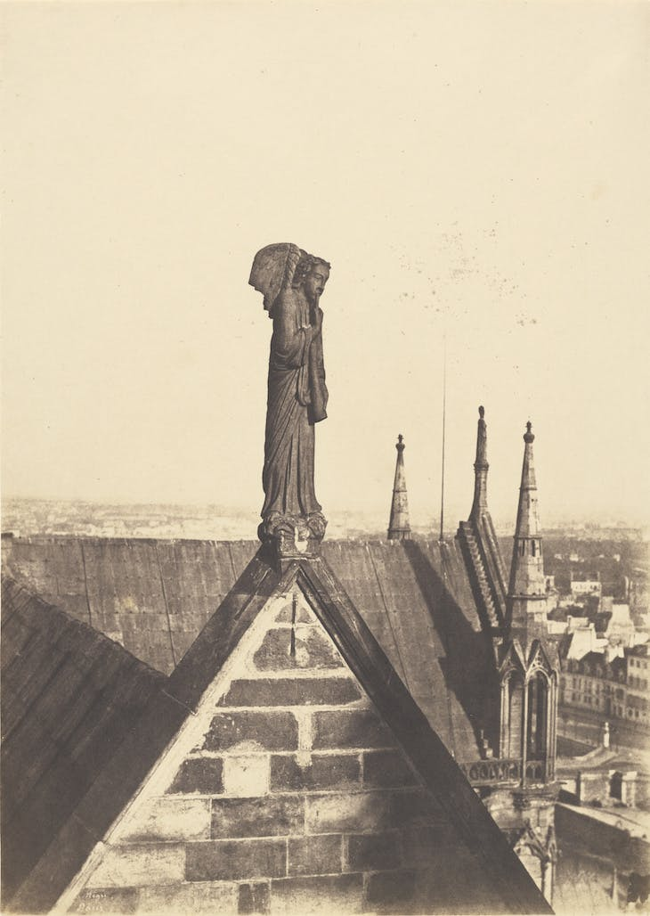 The Angel of the Resurrection on the Roof of Notre-Dame, Paris