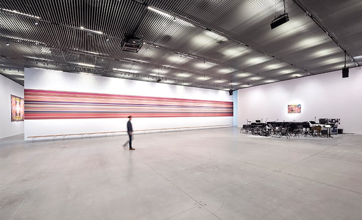 Installation view of Reich Richter Pärt in The Shed, New York, 2019.