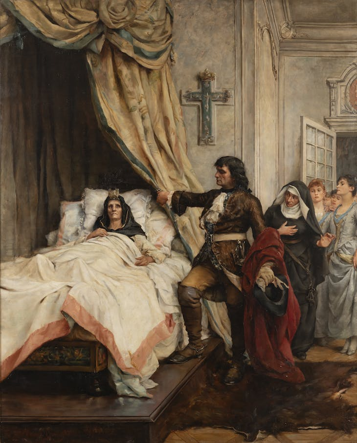 Peter the Great visiting Madame de Maintenon (late 19th/early 20th century), Thérèse de Champ-Renaud.
