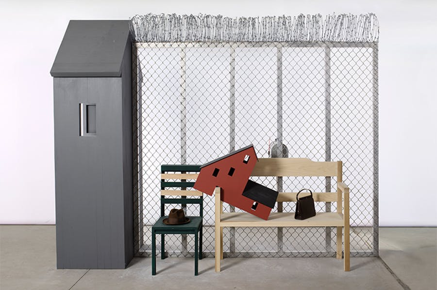 Seven Rooms of Hospitality: Room for Deportees (2017), Siah Armajani.