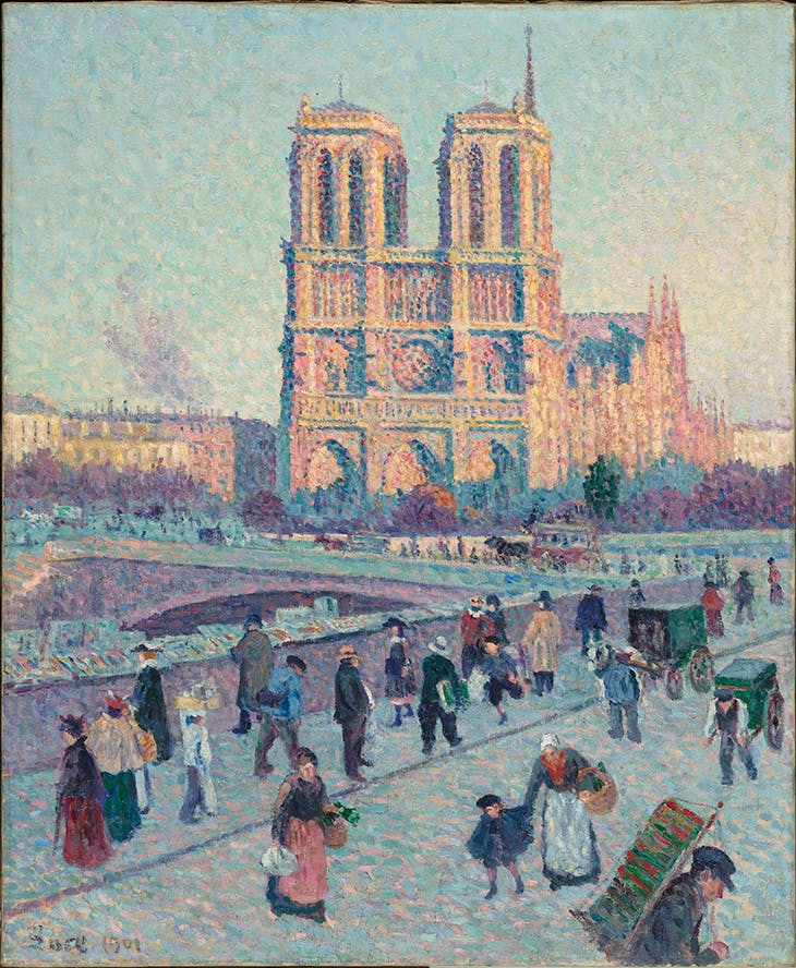 Le Quai Saint Michel et Notre-Dame de Paris (1901), Maximilien Luce. Musée d'Orsay, Paris.