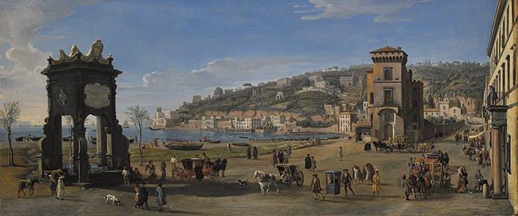 Naples, Riviera di Chiaia (1710–22), Caspar van Wittel.
