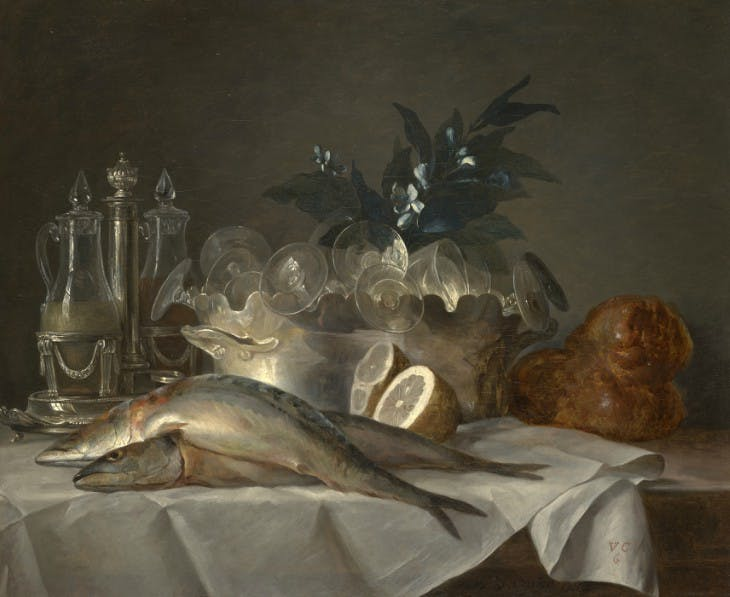 Still Life with Mackerel (1787), Anne Vallayer-Coster.