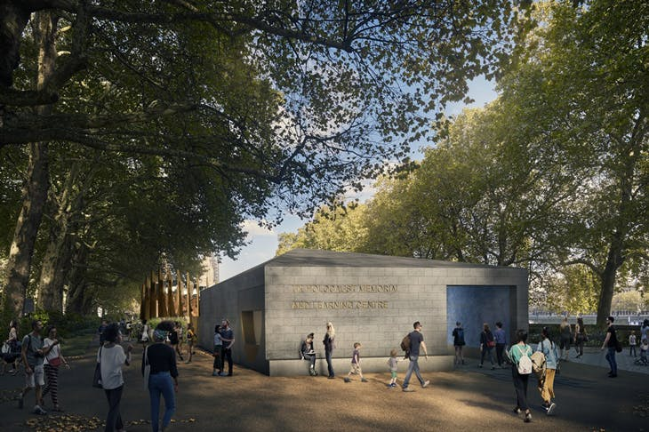 A rendering of the previous design for the Holocaust memorial in Victoria Tower Gardens, by Adjaye Associates, Ron Arad and Gustafson Porter + Bowman.