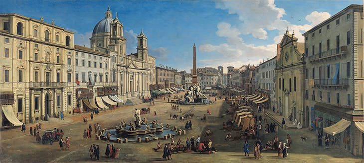 Piazza Navona (1699), Caspar van Wittel. Carmen Thyssen-Bornemisza Collection, on loan to the Museo Nacional Thyssen-Bornemisza, Madrid