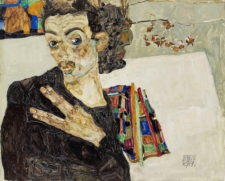Self-portrait (1911), Egon Schiele.