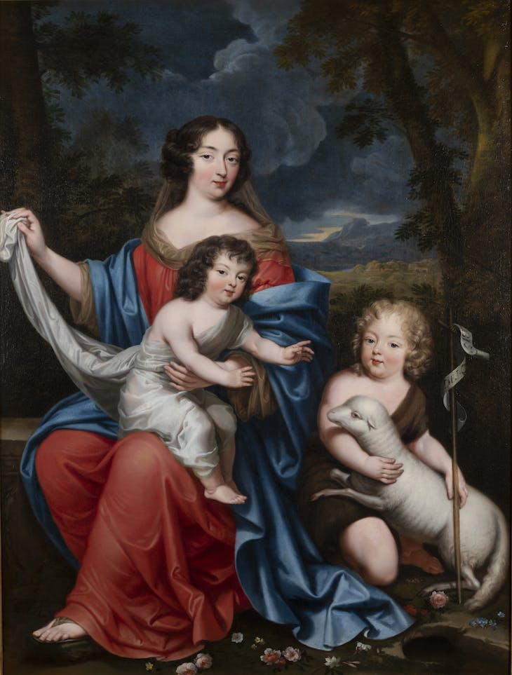 Françoise Scarron and the two first children of the king and Mme de Montespan (1674), attributed to Pierre Mignard.